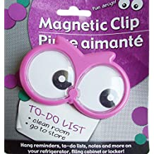 Fun Owl Googley Eyes Magnetic Clip - Hang Reminders, To-Do Lists and Notes on Refrigerator, Filing Cabinet or Locker (Pink)