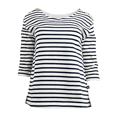 e8d8e1f365f Hublot T shirt Amal - Ecru Marine - Femme  Amazon.fr  Vêtements et ...