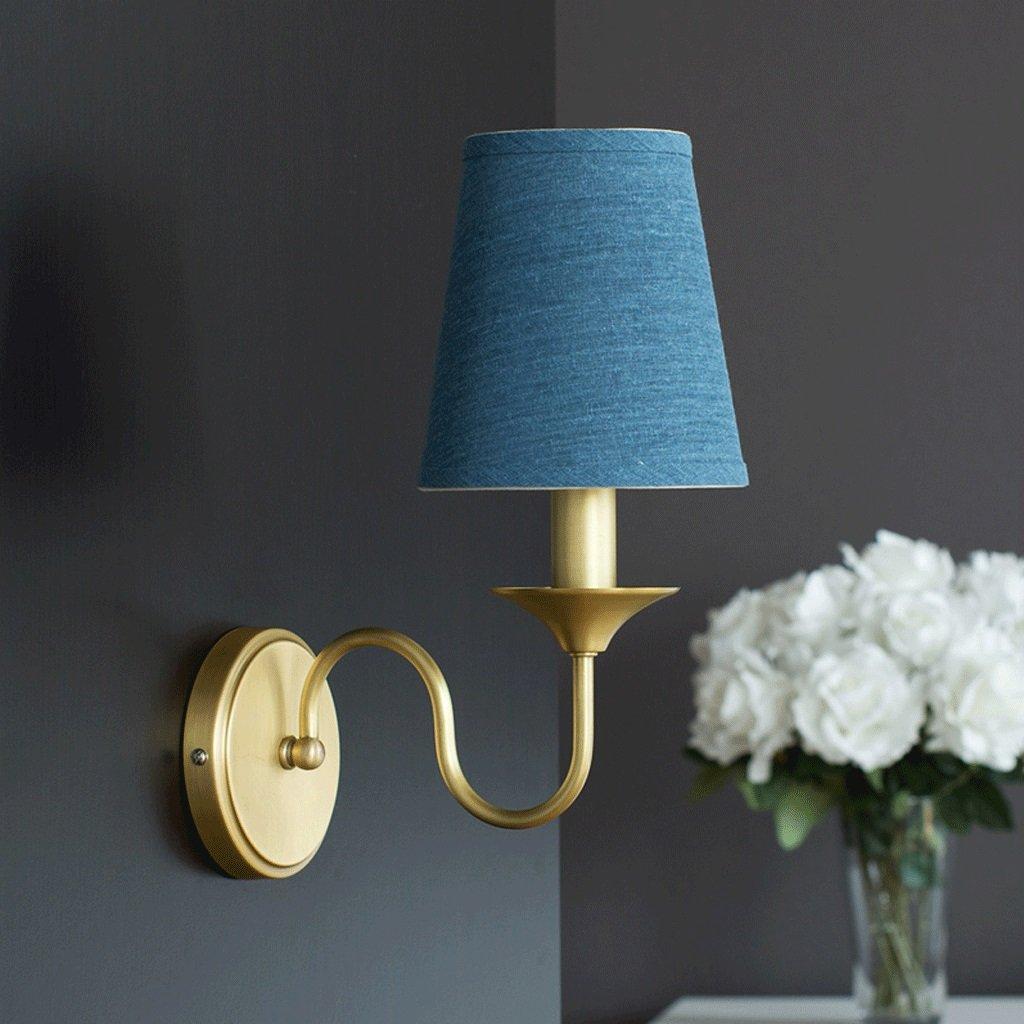 Unbekannt GJ Kupfer Kunst Wand Lampe - Bedside Aisle Treppen Wohnzimmer Schlafzimmer Lichter Kinderzimmer Korridor Wandleuchte GJV (Farbe : Blau)