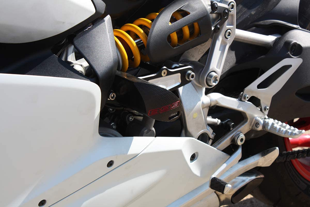 S T-Rex Racing No Cut Frame Front /& Rear Axle Sliders Spools for Ducati 2013-2015 Panigale 899 Red