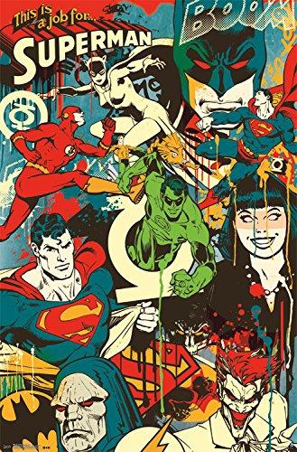 Trends International DC Comics Throwback Wall Poster 22.375