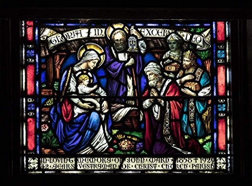 Photograph| Stained glass window inside Christ Episcopal Church in Raleigh, North Carolina, one of the first Gothic Reivival churches in the American South 7 Fine Art Photo Reproduction 44in x 32in