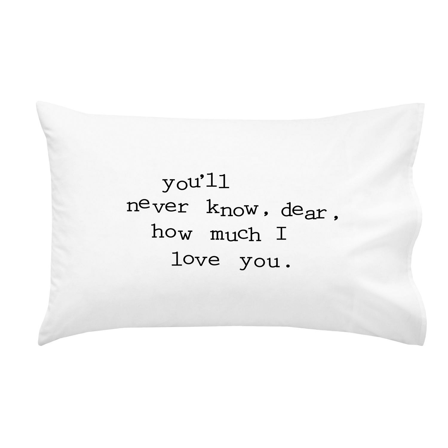 Oh, Susannah You'll Never Know, Dear, How Much I Love You. Black Font You are My Sunshine Pillowcase (One 20x30 Inch Standard/Queen Size Pillow Case) Kids Pillowcase Missing You Gifts