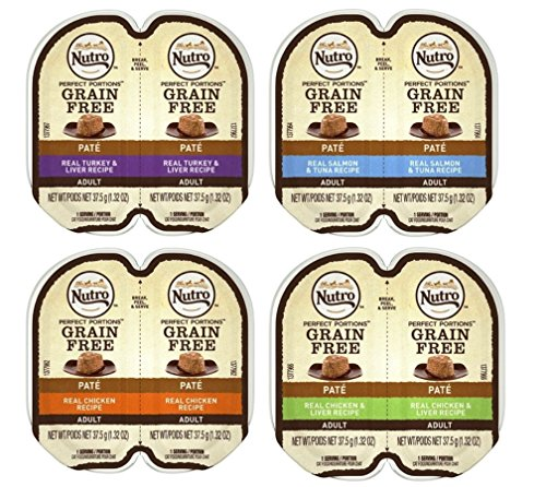 (Nutro Perfect Portions Grain Free Soft Loaf Cat Food 4 Flavor 8 Can Variety Bundle: (2) Turkey & Liver Recipe, (2) Salmon & Tuna Recipe, (2) Chicken Recipe, & (2) Chicken & Liver, 2.6 Oz Ea (8 Cans))