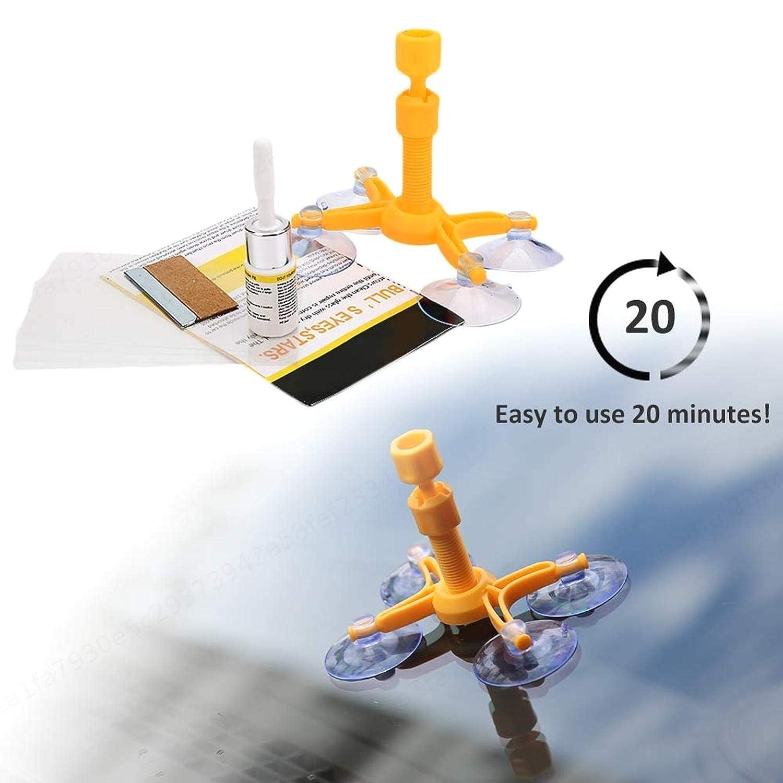 Grietas de Chips de Vidrio autom/ático de Bricolaje ZXYAN Kit de reparaci/ón de Parabrisas Amarillo Premium Kit de reparaci/ón de Parabrisas Grieta