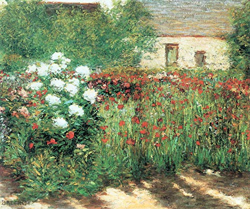 Home Comforts Peel-n-Stick Poster of Breck, John Leslie - Garden in Giverny Vivid Imagery Poster 24 x 16 Adhesive Sticker Poster Print