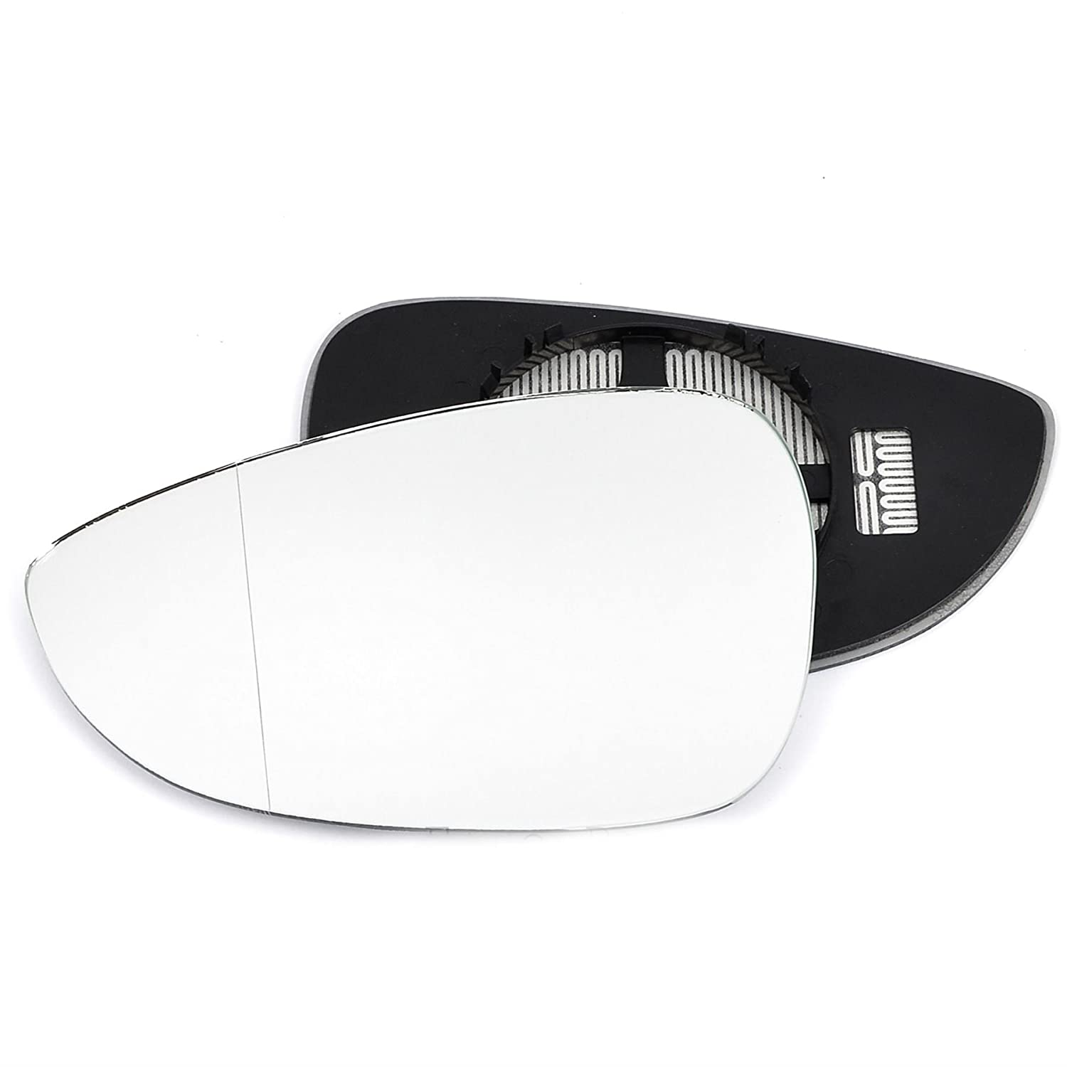 Passenger left hand side Heated wing door Silver mirror glass with backing plate #W-SHY/L-FDBX12 [Clip On] Sylgab