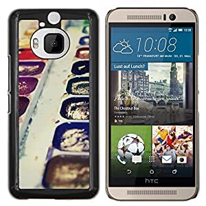 """Be-Star Único Patrón Plástico Duro Fundas Cover Cubre Hard Case Cover Para HTC One M9+ / M9 Plus (Not M9) ( Acuarelas Arte Pintura Dibujo púrpura Kit"""" )"""