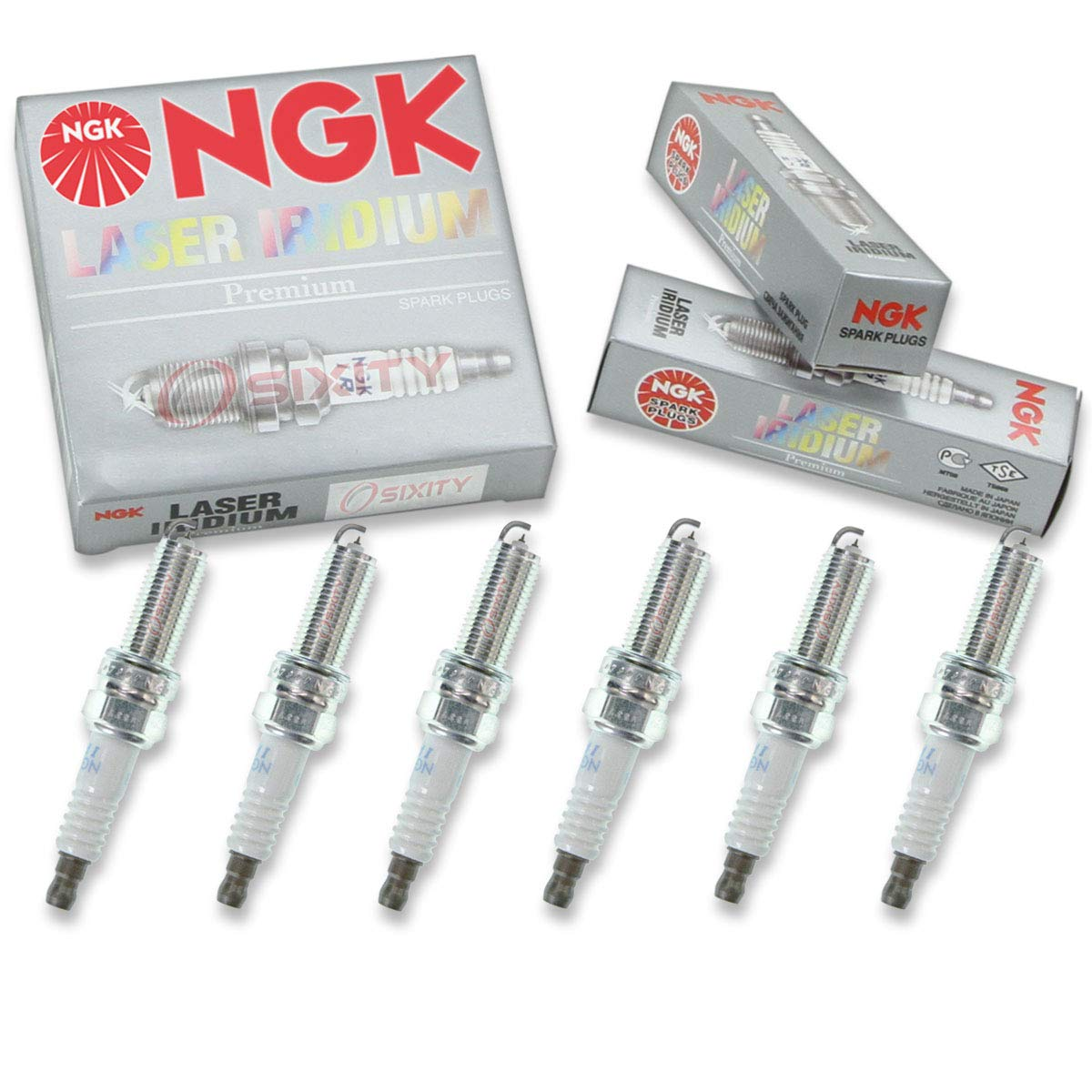 Amazon com: NGK Laser Iridium 6pcs Spark Plugs Jeep Wrangler