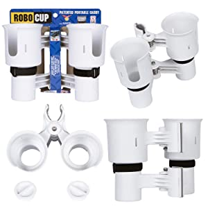 ROBOCUP, Updated Version, 12 Colors, Best Cup Holder for Drinks, Fishing Rod/Pole, Boat, Beach Chair, Golf Cart, Wheelchair, Walker, Drum Sticks, Microphone Stand
