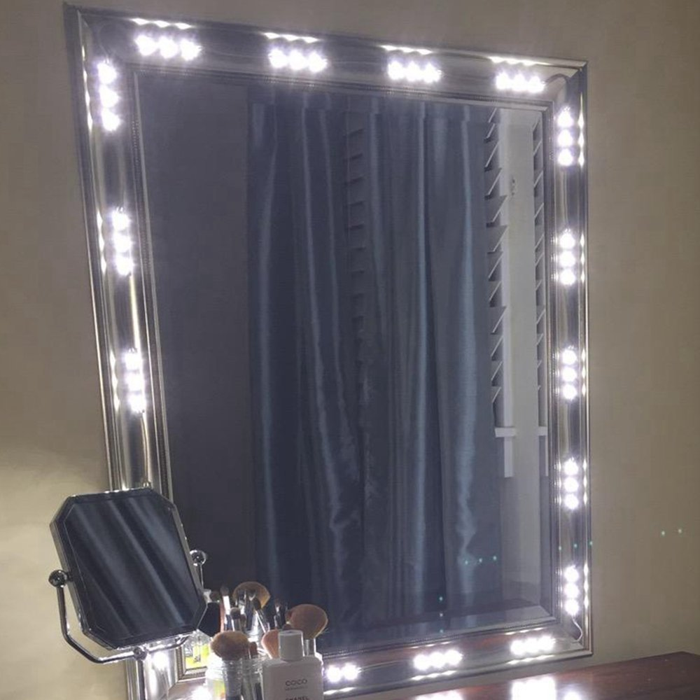 BEST LED LIGHTS FOR MAKE-UP VANITY MIRROR-60 LEDS 9FT DIY LIGHT KITS WITH POWER SUPPLY UL SAFE CERTIFICATED