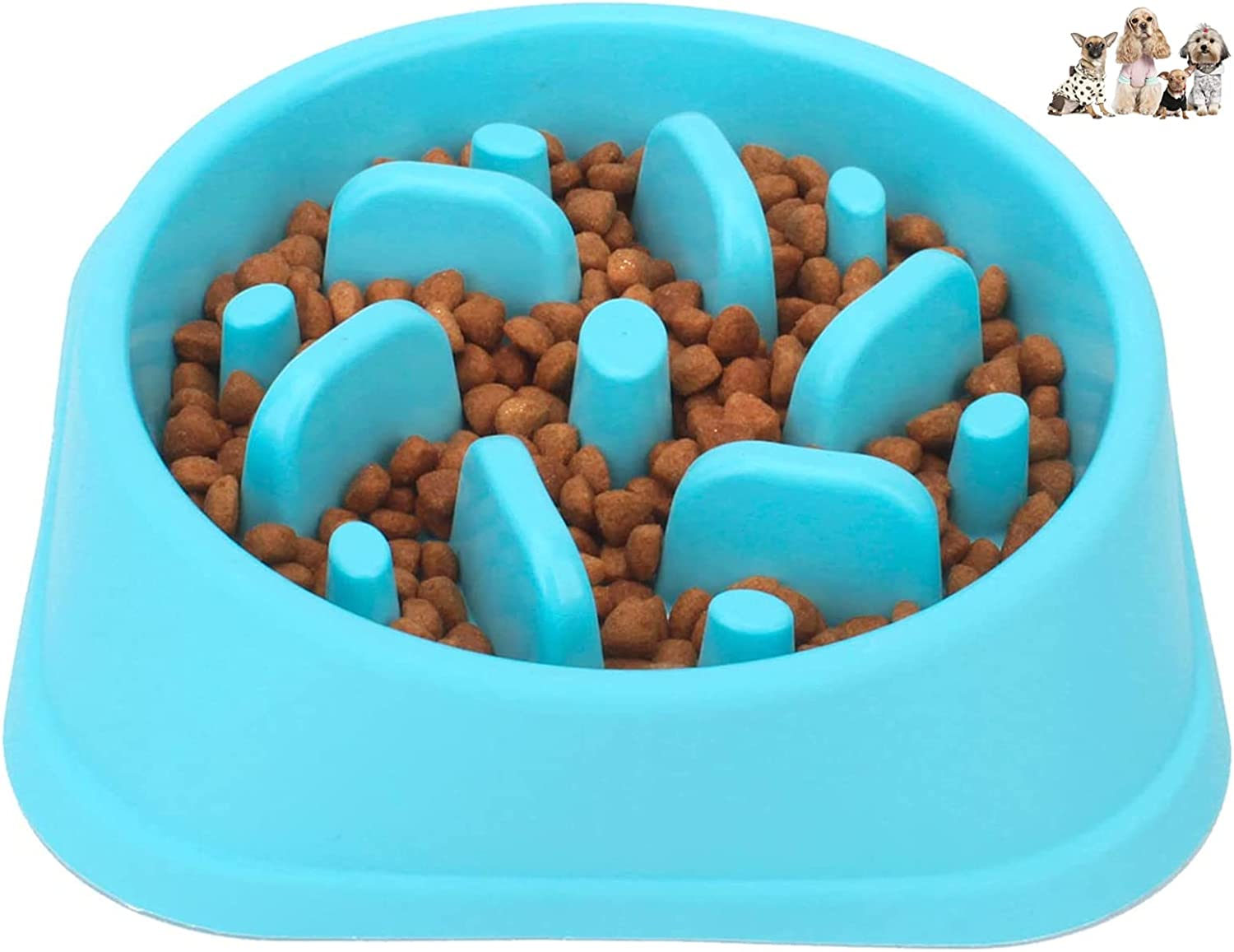 UXJUNHUI Non-Slip Puzzle Bowl, Anti-swallowing pet Slow Food Plate, Dog Feeder, Slow Food pet Bowl Environmentally Friendly and Durable, Anti-Suffocation Healthy Design Bowl