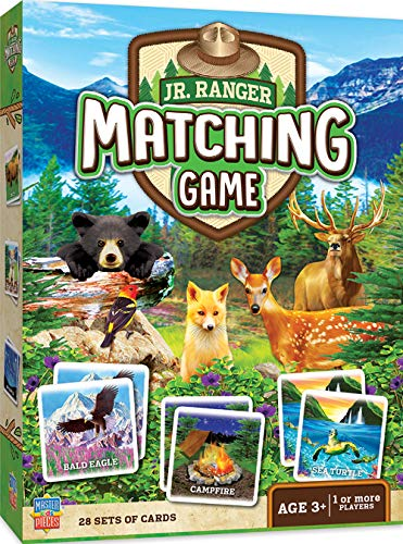 MasterPieces Jr. Ranger Matching Game, Includes 28 Set of Cards, 1 or More Players, for Ages 3+ -
