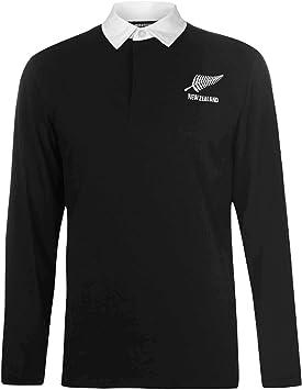 Camiseta de rugby de manga larga para adultos de Nueva Zelanda (100% algodón, tallas S a 3XL): Amazon.es: Deportes y aire libre