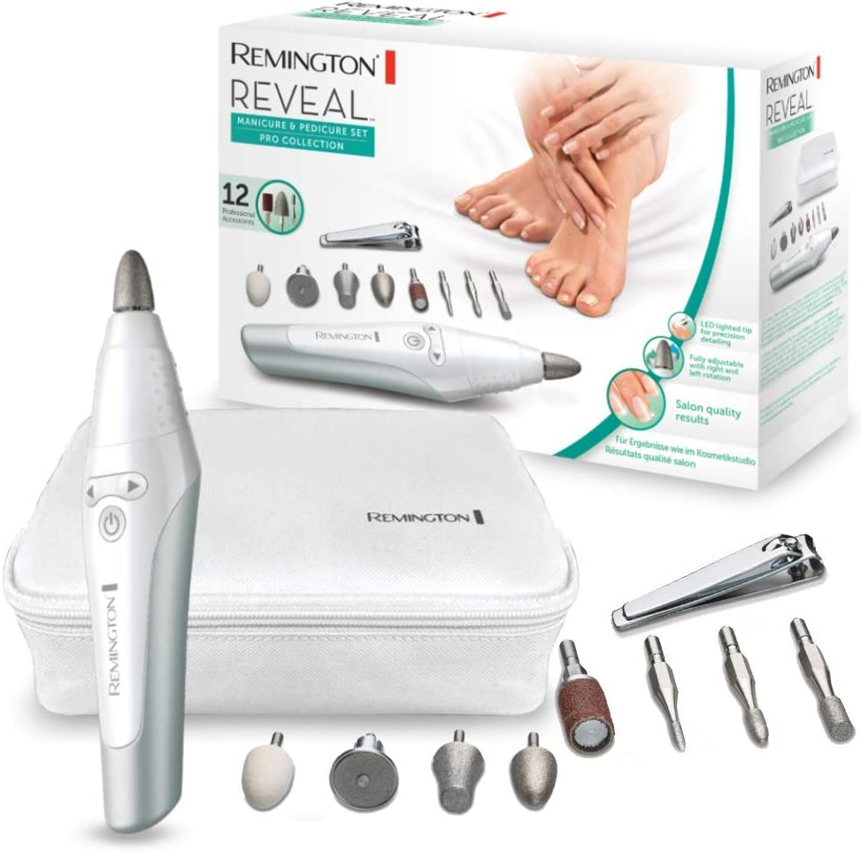 Remington Reveal MAN3000 Set Manicura y Pedicura, 12 Tornos para ...