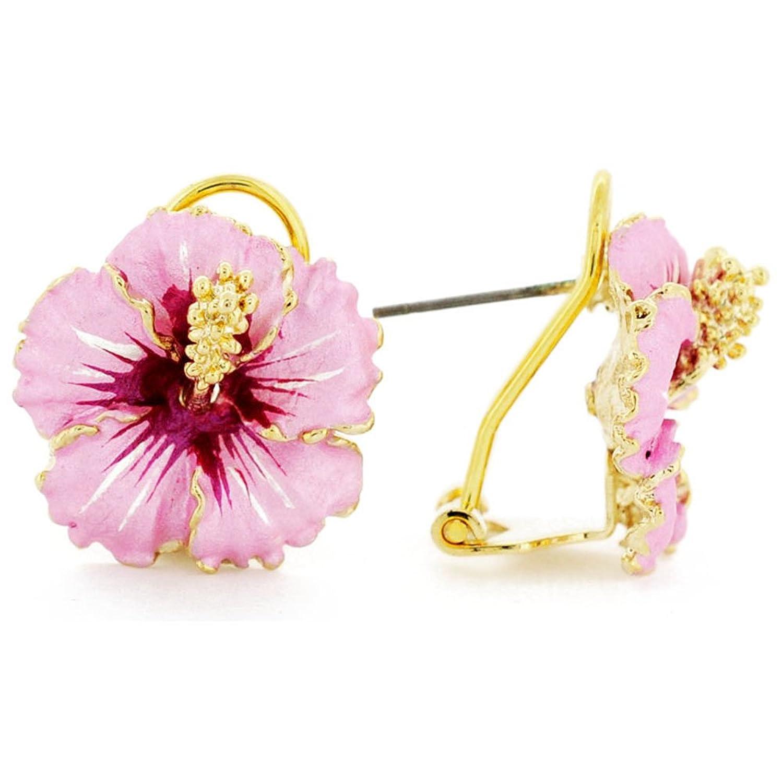 Amazon pink hawaiian hibiscus flower earrings jewelry izmirmasajfo