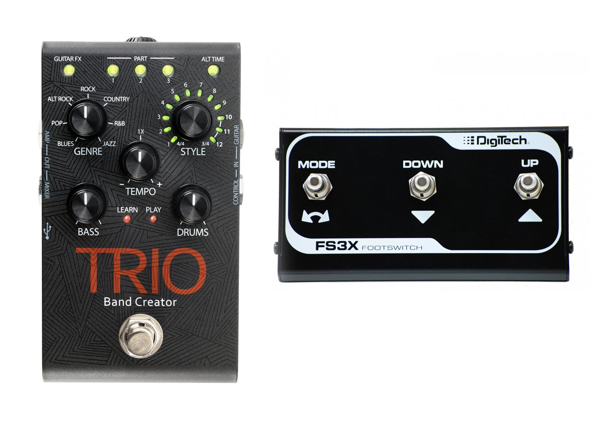 Digitech Trio guitar effect pedal bundle with DigiTech FS3X Footswitch by DigiTech (Image #1)
