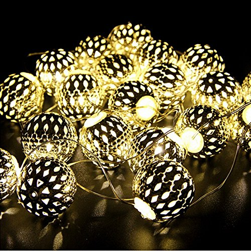 Windspeed 20 leds/2M Gold Moroccan Orb LED Fairy