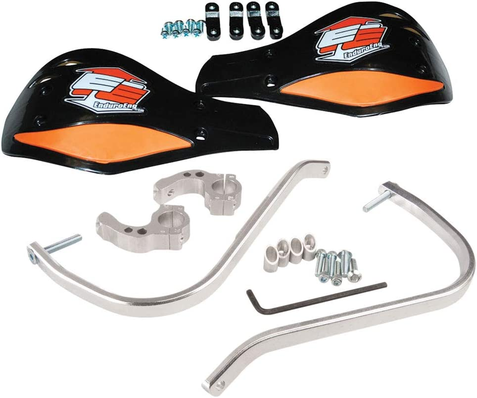 Enduro Engineering Evolution Debris Deflectors Silver Bar//Black//Orange Plastic Fasst Flexx Bars