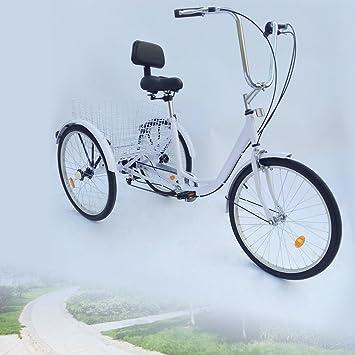 Z&Y 3 – Triciclo para Adultos 24 Adultos Triciclo 6 Marchas Bicicleta 2 Color, ...