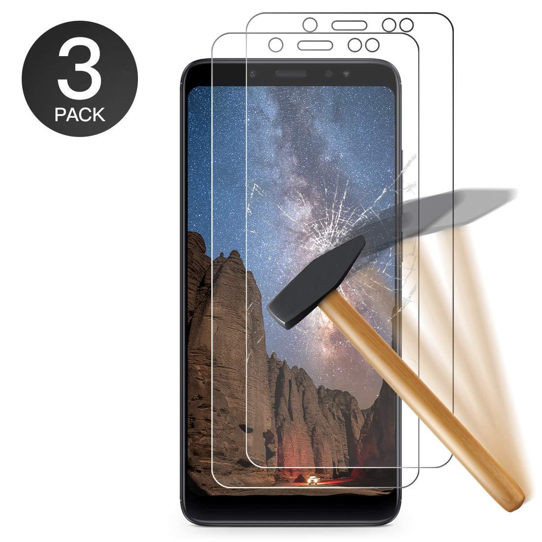Zloer [3 pièces] Verre Trempé Xiaomi Redmi Note 5, Film Protection en Verre Trempé - [3D Couverture Complète] [Ultra Résistant Dureté 9H] [sans Bulles] [Ultra Claire] - pour Xiaomi Redmi Note 5