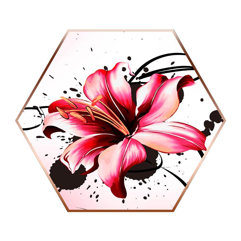 5d Pintura Por Diamantes (itm7648) Flor (30x34cm)
