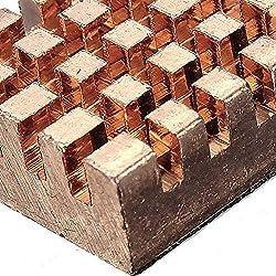Nrthtri smt 30 Pcs Copper Pure Heat Sink Cooling Fin Kit for Raspberry Pi Board