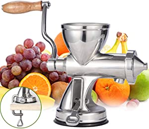 SHKY Manual Wheatgrass Juicer Extractor, with Suction Cup Base, for Juicing Wheat Grass Celery Kale Spinach Parsley Pomegranate Apple Grapes Fruit Vegetable