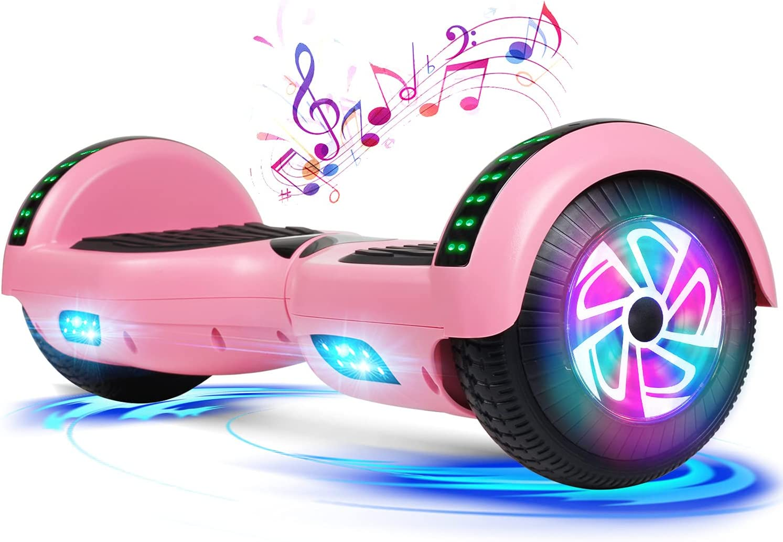 "6.5"" Bluetooth Hoverboard Self-Balancing Scooter LED UL Pink No Bag"