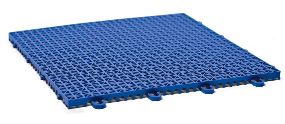 DuraGrid CR12ROYB Cross-Rib Design, Interlocking Modular Self-Draining Multi-Use Safety Floor Matting (12 Pack), Royal Blue by DuraGrid® (Image #1)