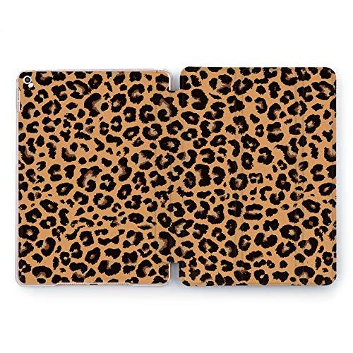 Wonder Wild Cheetah Shell Apple iPad Pro Case 9.7 11 inch Mini 1 2 3 4 Air 2 10.5 12.9 2018 2017 Design 5th 6th Gen Clear Smart Hard Cover Leopard Danger Animals Skin Fur Ornament Black Spot Blot ()