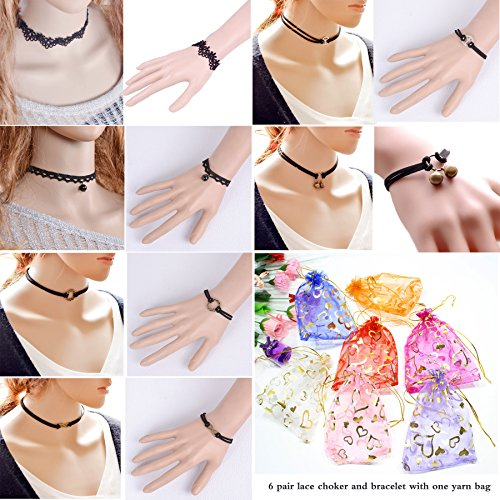 Womens Classic Stretch Necklace Bracelet