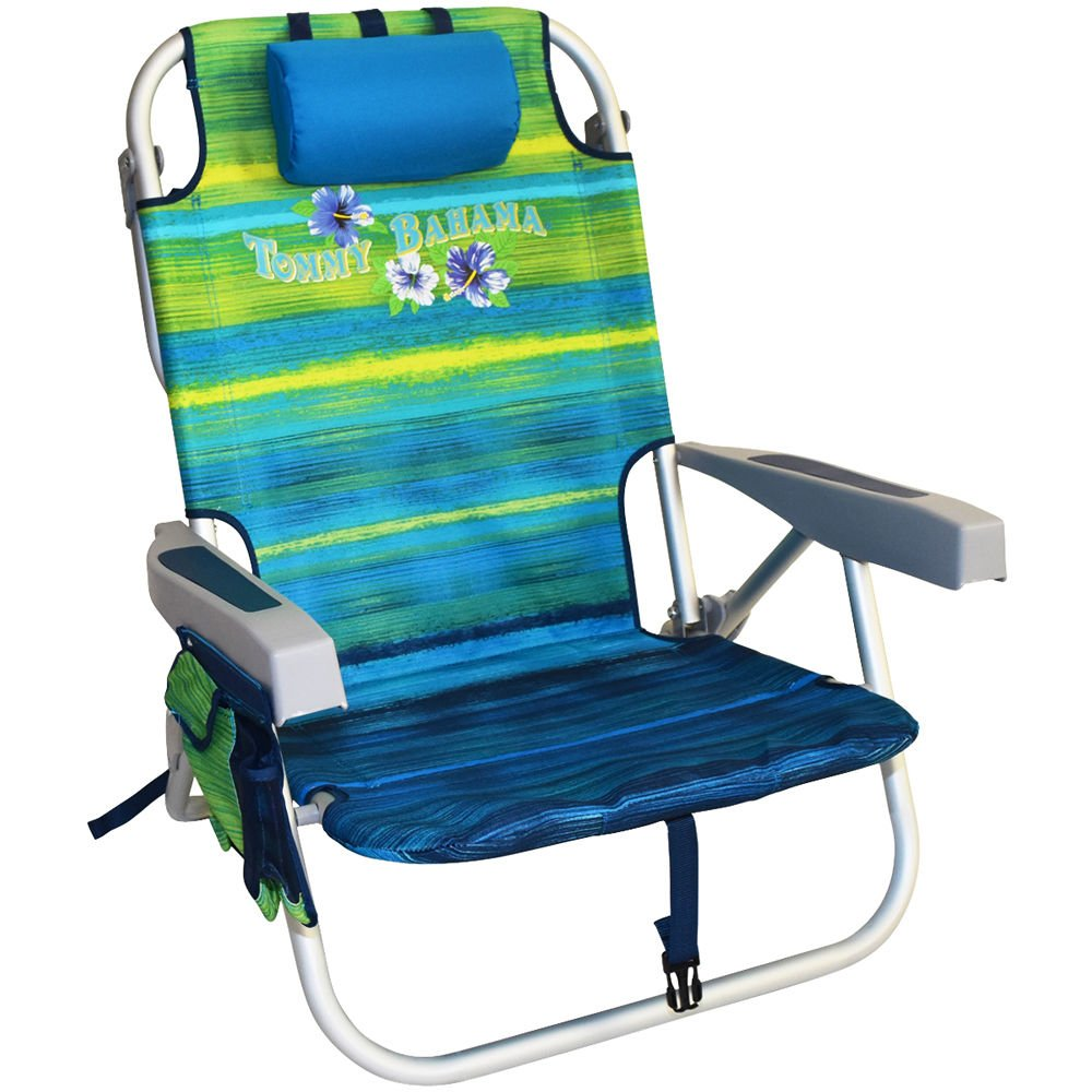 Tommy Bahama Backpack Beach Chairs with One Medium Tote Bag - Pack of 2 - Green by Tommy Bahama (Image #2)