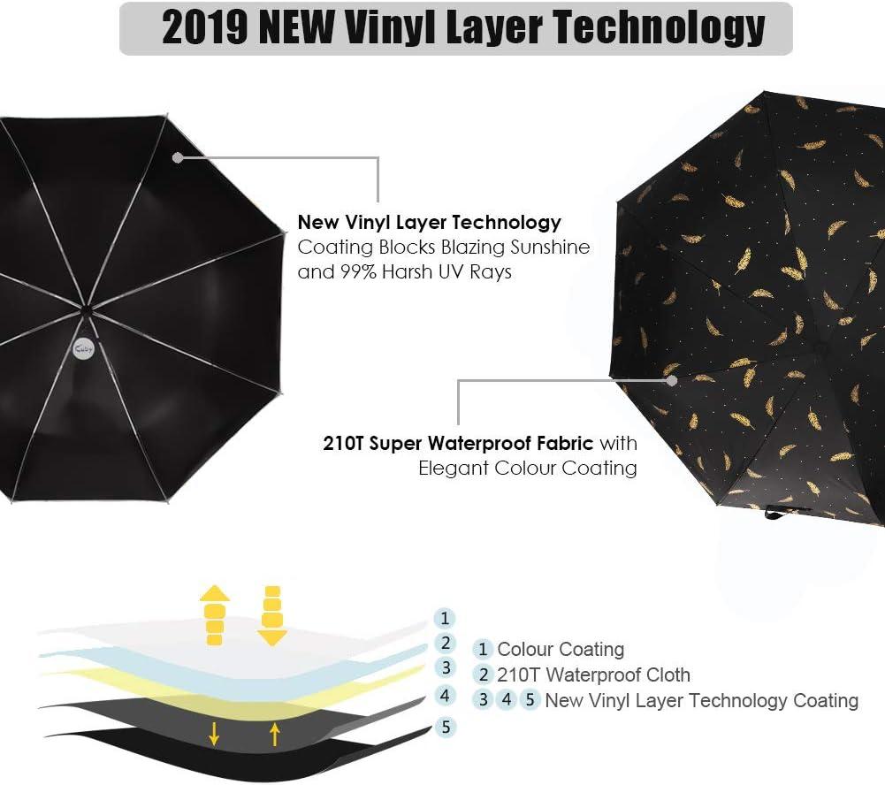 aocostton Sweet Sloth Automatic Umbrella,Anti Uv Folding Sunblock Umbrella Windproof Sun Protection 11.5 Inch Compact and Lightweight Anti-Slip Rubberized Grip