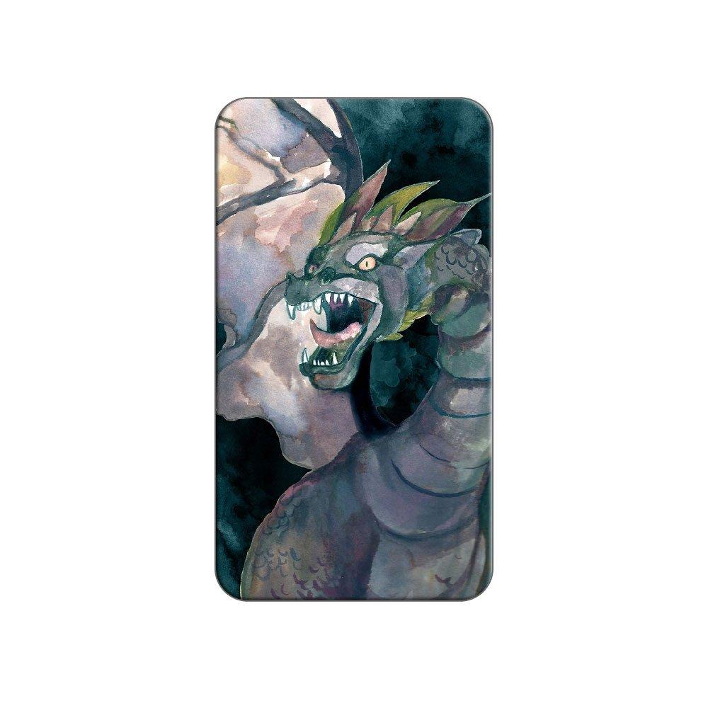 Dragón azul Watercolor - Fantasy metal camiseta de gorro de solapa ...