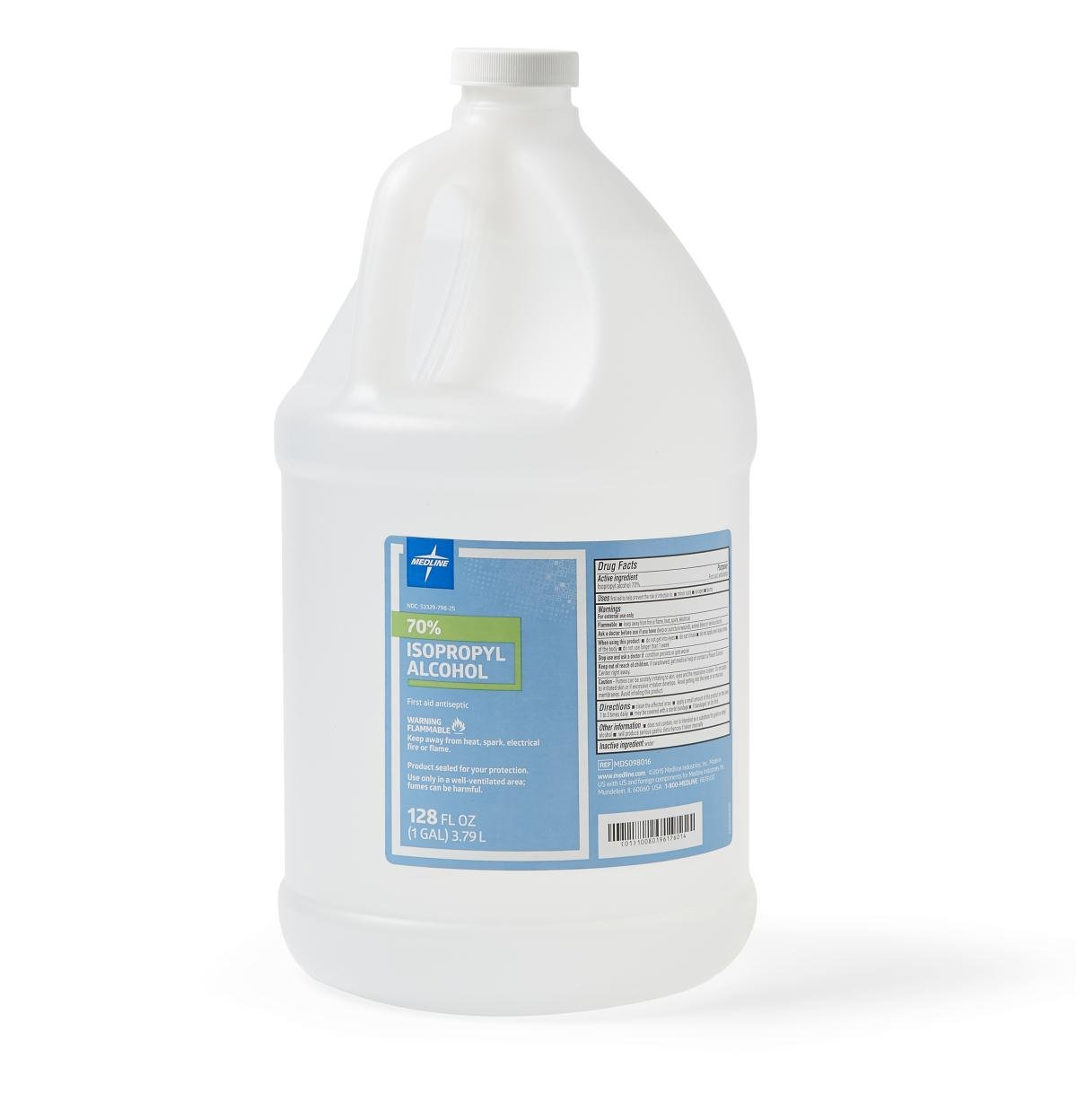 Medline MDS098016 Alcohol, Rubbing, Isopropyl-70%, 1 gal (Pack of 4)