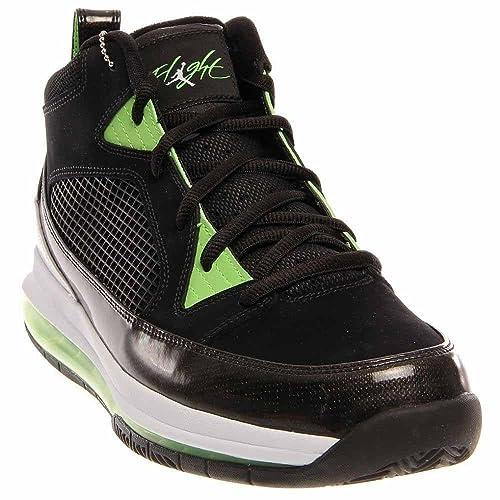 1661208a932f Nike Men s Air Jordan Flight 9 Max RST 486875 009 Max RST Black White Green  (Men 12