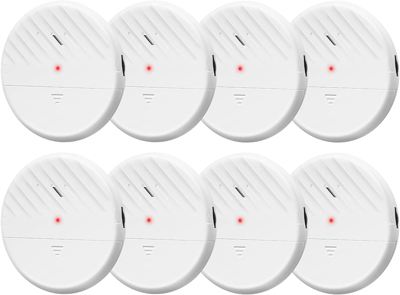 Wsdcam Window Alarm Sensors 125dB Ultra-Slim Wireless Glass Break Detector Vibration Alarm for Home Window and Door Security Glass Break Sensor Alarm - 8 Pack