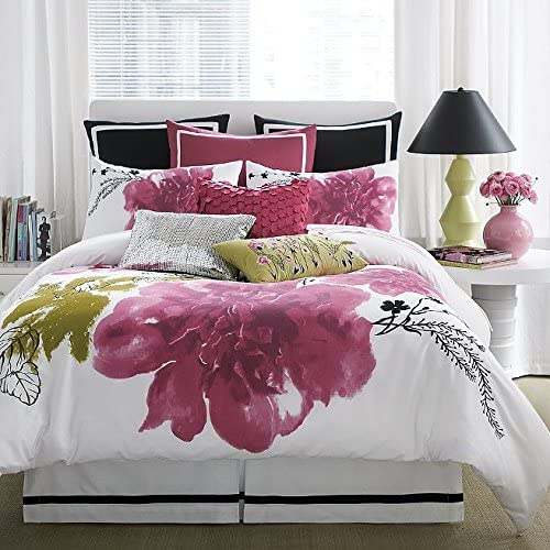 Anthology Blossom Pink Green Floral Twin Comforter Set