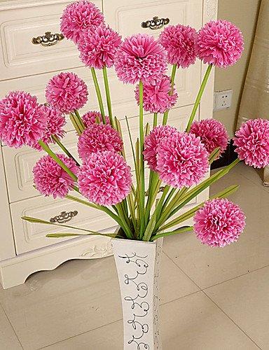 moda Carmine Ramo de la moda,flores moda,flores moda,flores artificiales, Seda   Plástico Hortensias Flores Artificiales , carmine  venta