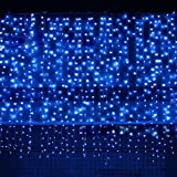 Best Outside Plug In Lights - Bjour BGGD-33 18W Curtain Icicle Lights Christmas String Review