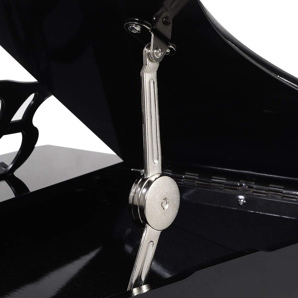 COSTWAY Wood Toy Grand Piano 30 Keys for Childs with Bench (Black)