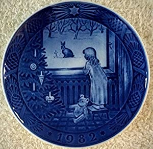 Amazon.com: 1982 Royal Copenhagen Christmas Plate - Waiting for ...