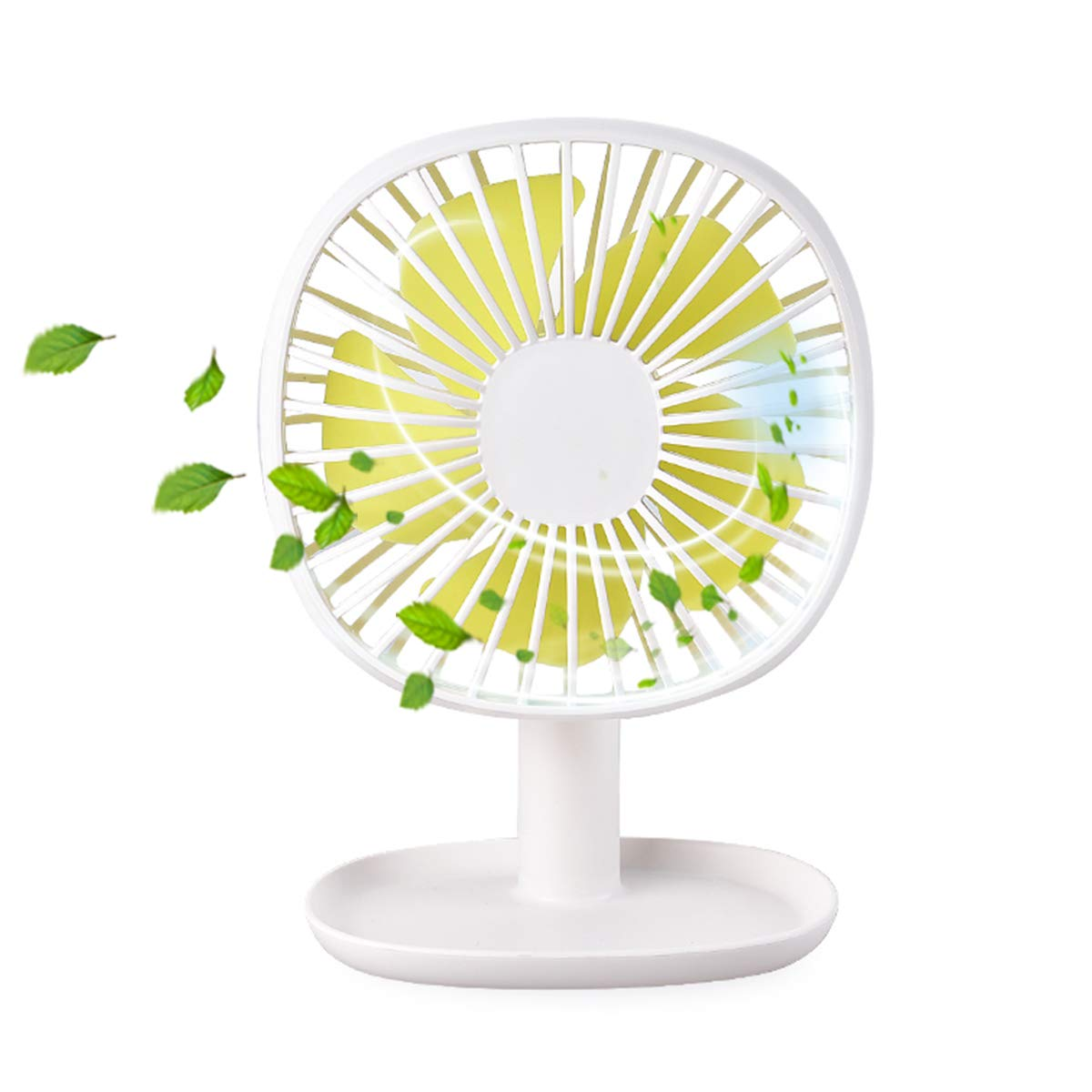 Small Desk Fan, Table Standing Personal Fan with Rechargeable Battery Operated High Velocity 3 Speed, Ultra Quiet, 60 Up Down, Summer Gifts for Office Household Outdoor Sport Traveling Camping