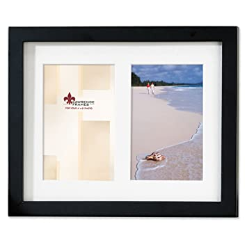 Amazon.com - Lawrence Frames Black Wood Double 4 by 6 Matted Picture ...