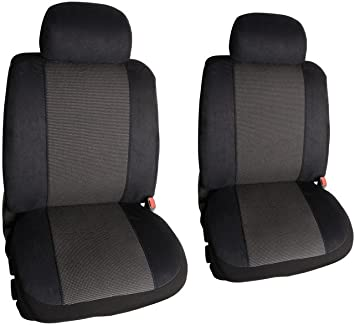 Clazzio 205011blk Black Leather Front Row Seat Cover for Toyota Matrix
