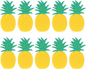 VOSAREA 10pcs Fruit Fridge Magnets Whiteboard Sticker Kid Magnets Educational Tool Gift Home Decoration (Pineapple)