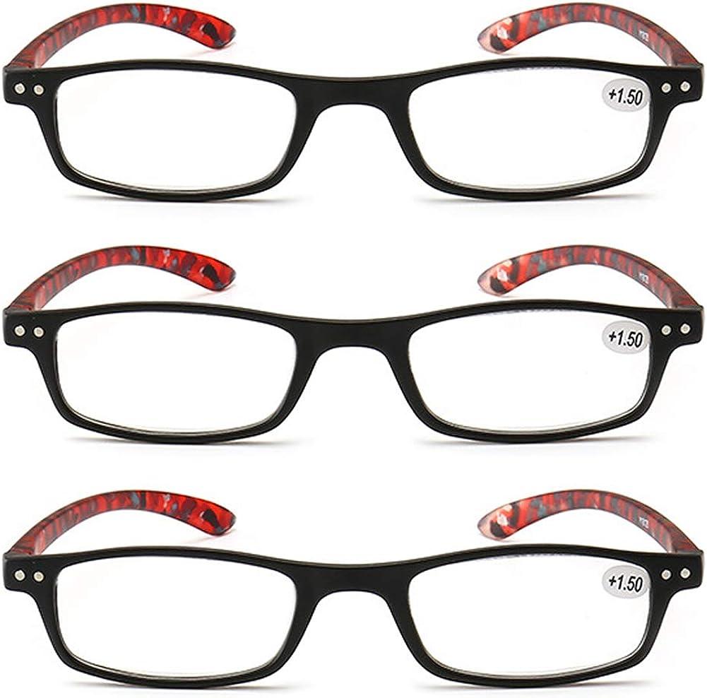 KOOSUFA Lesebrille Damen Herren Schmal Rechteckige Lesehilfen Augenoptik Modern Vintage Qualit/ät Vollrandbrille Arbeitsplatzbrille mit St/ärke 1.0 1.5 2.0 2.5 3.0 3.5 4.0
