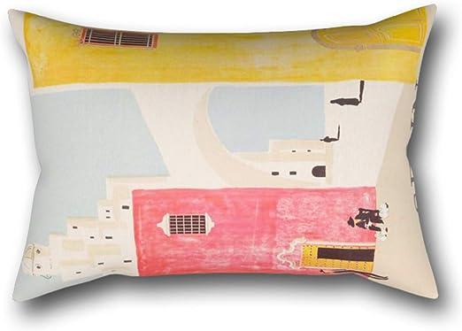 GYTOP Funda Cojín Cartel De Viajes Vintage De España Arte Minimalista De Mediados De Siglo Funda De Almohada 50X75Cm: Amazon.es: Hogar