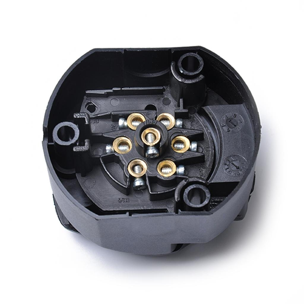 Non-brand Sistema El/éctrico 12N 7 Pin Plug Socket Connector Kits Remolque Caravana Truck Towing